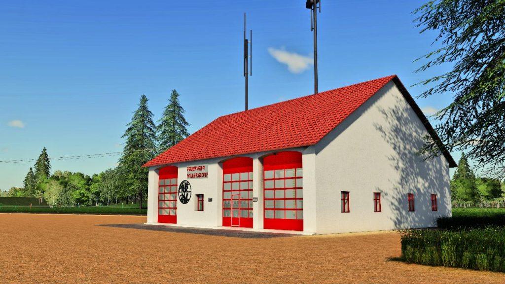 Hangar der Feuerwehr