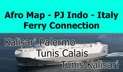 Afro Map – PJ Indo – Italy Ferry