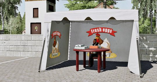 Hühnerei-Zelt